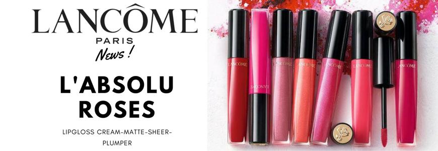 Lancome L'Absolu Roses lipgloss Cream Matte Sheer Plumper