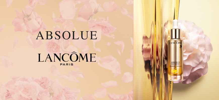 Lancome ABSOLUE since 1965. Inspired by Nature and Sublimated by Science