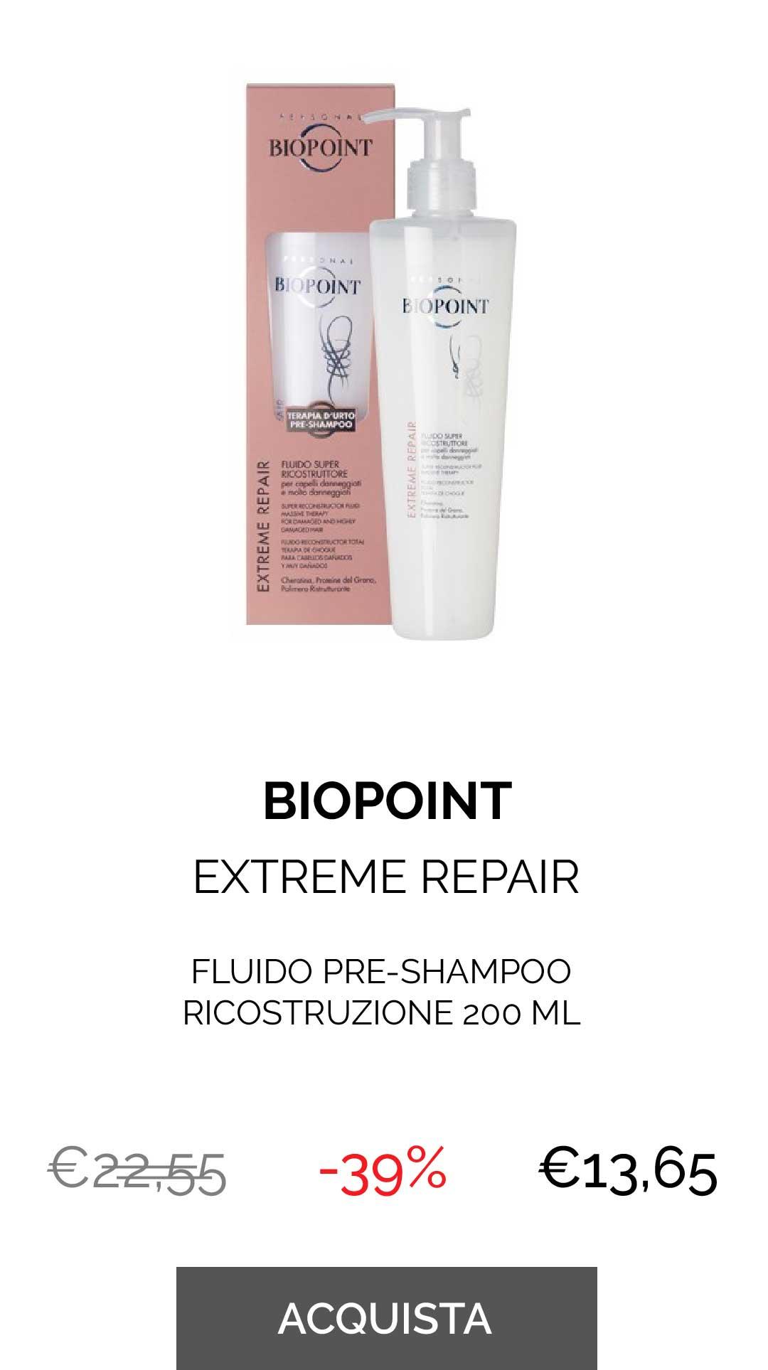 BIOPOINT - FLUIDO PRE-SHAMPOO RICOSTRUZIONE 200 ML