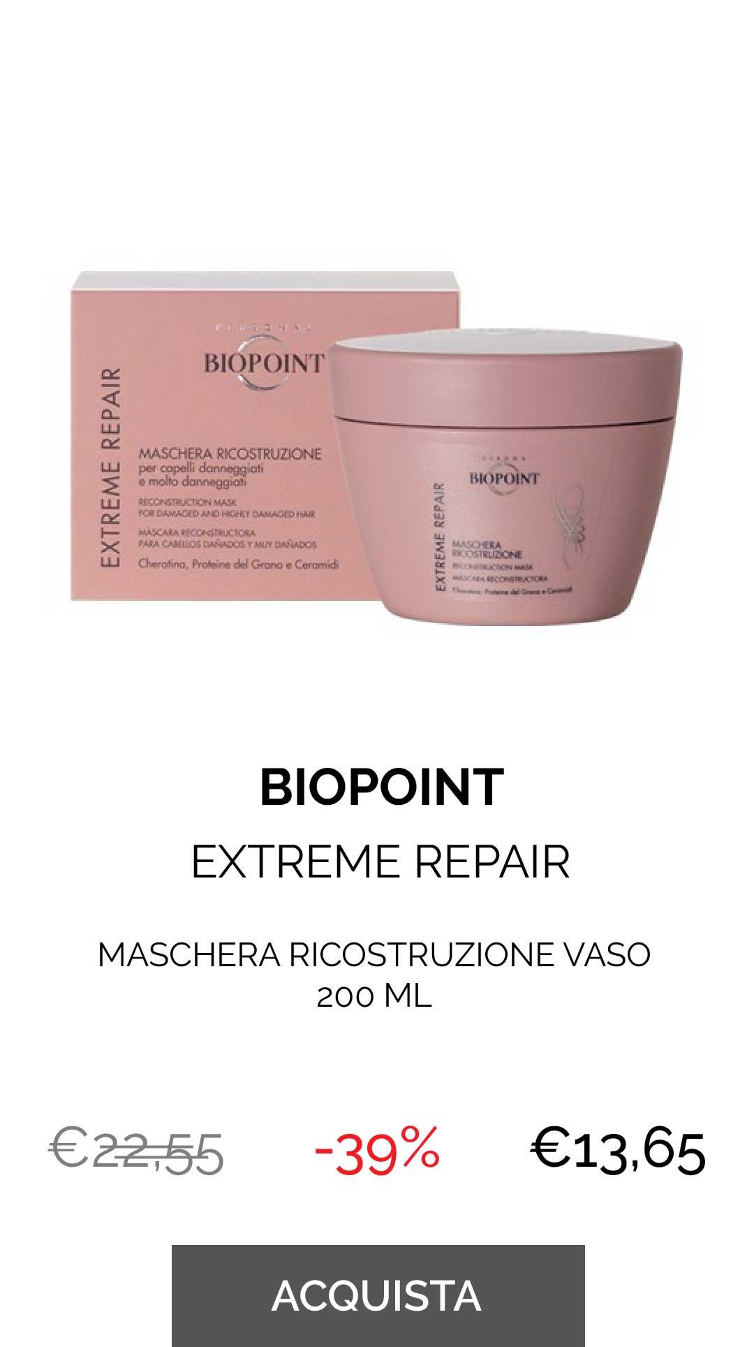 BIOPOINT - MASCHERA RICOSTRUZIONE VASO 200 ML