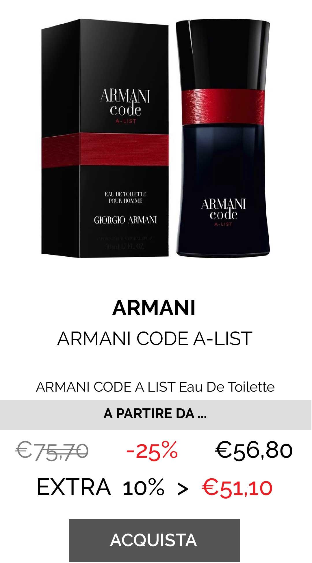 ARMANI CODE A LIST Eau De Toilette