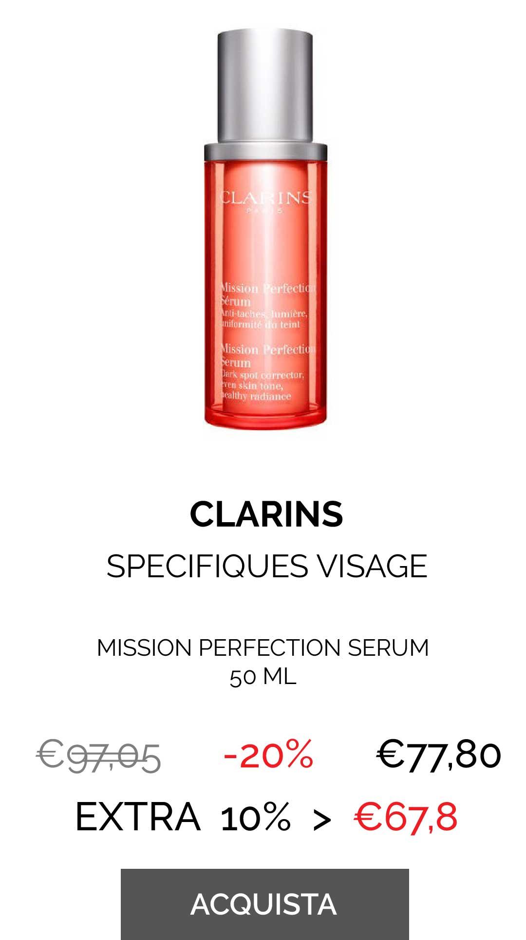 CLARINS - MISSION PERFECTION SERUM 50 ML