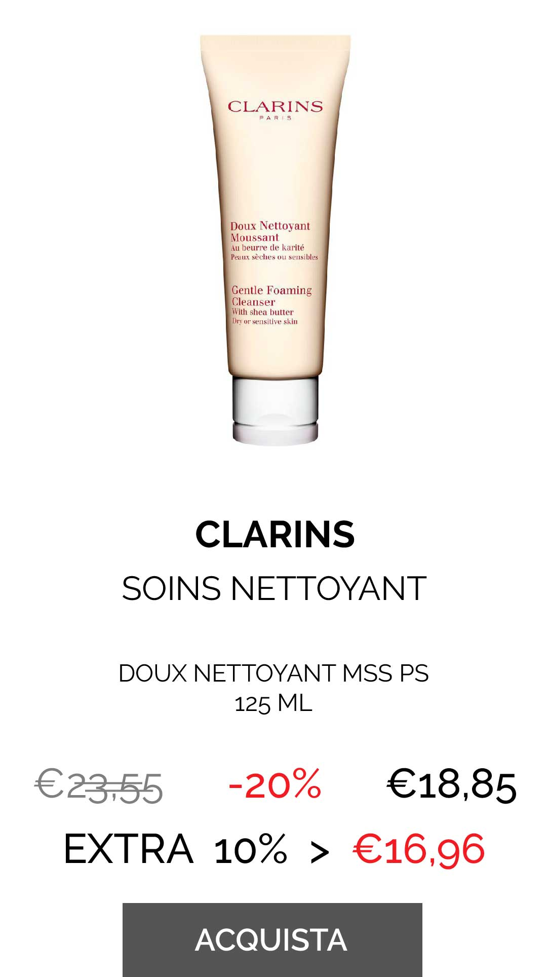 CLARINS - DOUX NETTOYANT MSS PS 125 ML