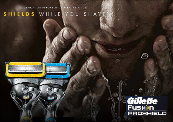 GILLETTE FUSHION PROSHIELD ... INNOVAZIONE PURA