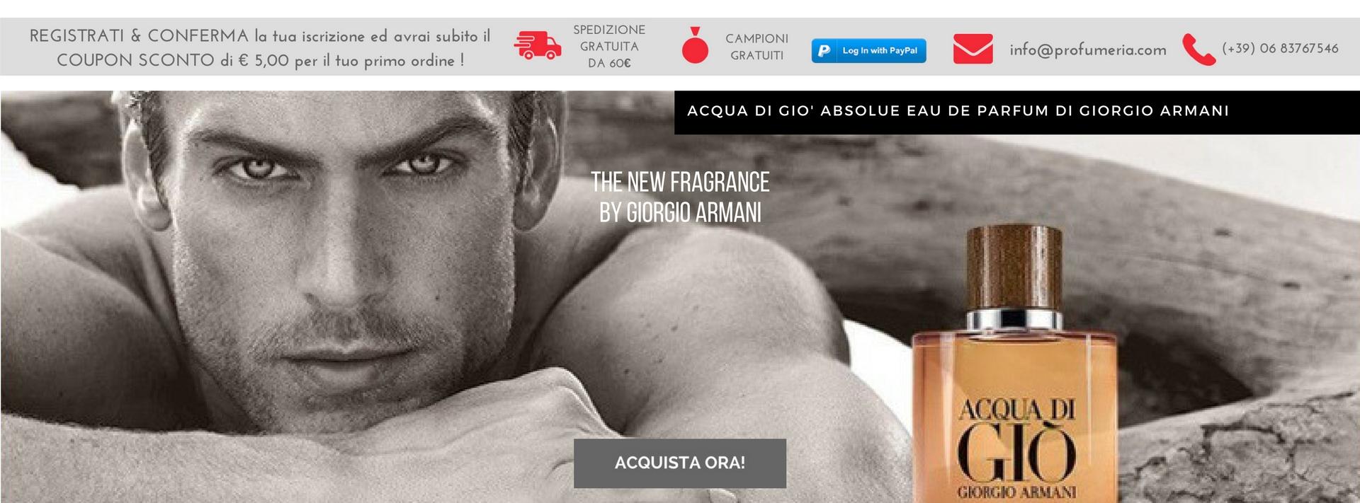 Giorgio Armani ACQUA DI GIO' ABSOLUE EAU DE PARFUM The New Fragrance !